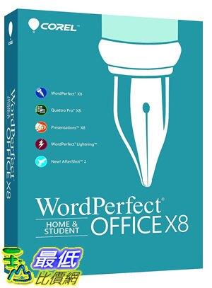 [7美國直購] 2018 amazon 亞馬遜暢銷軟體 Corel WordPerfect Office X8 Home Student Edition for PC (Old Version)