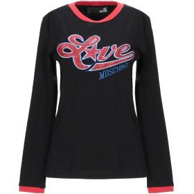 《セール開催中》LOVE MOSCHINO レディース T シャツ ブラック 38 コットン 93% / ポリウレタン 7%