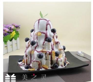 仿真藍莓吐司積木瀑布模型