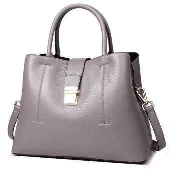 YIYUTING ハンドバッグ女性用通勤用トートバッグレザーバケットバッグ大容量ショルダーバッグワイルドメッセンジャーバッグ (色 : 暗灰色)
