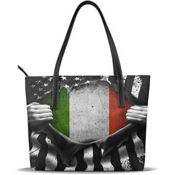 人気の女性バッグ ナノプリントの高級マイクロファイバーレザーレディースハンドバッグ イタリア レジャー、ショッピング、パーティー、学校、仕事、旅行 美しくエレガント