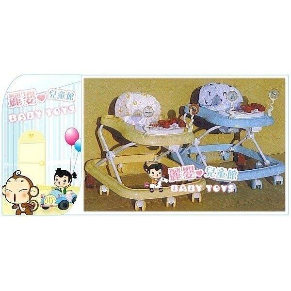 麗嬰兒童玩具館~台製精品超值選~baby最愛的小花方向盤高級學步車.-可煞車款