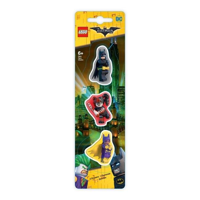 【 樂高LEGO 】造型橡皮擦(3入) (蝙蝠俠 |女蝙蝠俠 |小丑女)