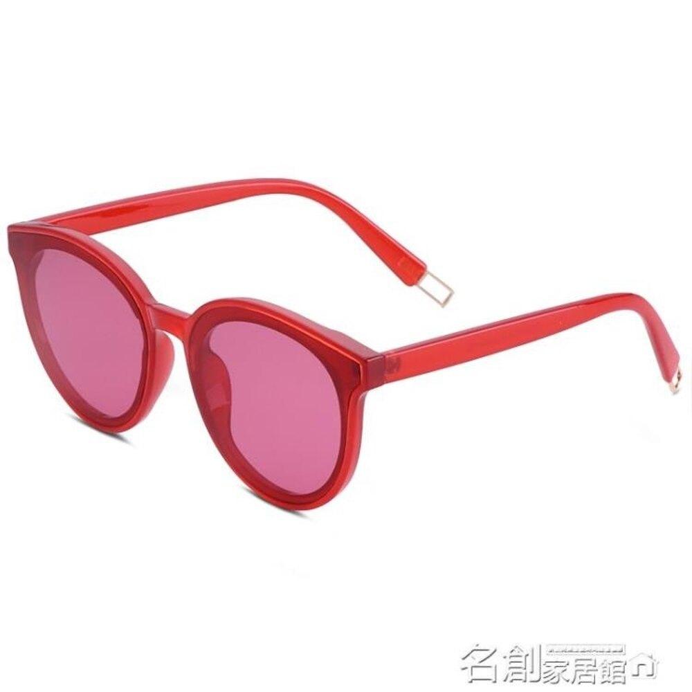 新款墨鏡女韓版潮gm太陽鏡圓明星網紅同款眼鏡復古街拍偏光鏡 名創家居館
