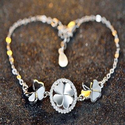925純銀手鍊 鑲鑽手環-時尚簡約熱銷百搭生日情人節禮物女飾品73gl57【獨家進口】【米蘭精品】
