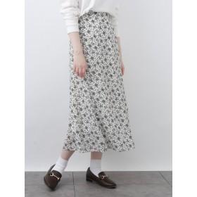 【6,000円(税込)以上のお買物で全国送料無料。】【広瀬すず×earth】花柄セミAラインスカート