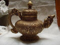 黃銅圓藏壺