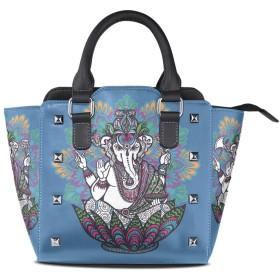 アートエレファントゴッド女性の女の子のためのハンドバッグ女性クロスボディバッグ革サッチェル財布メイクトートバッグ
