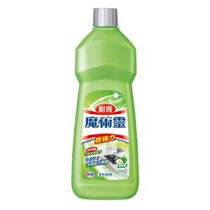 花王 魔術靈 廚房 清潔劑(經濟瓶)-青蘋香 500ml【康鄰超市】