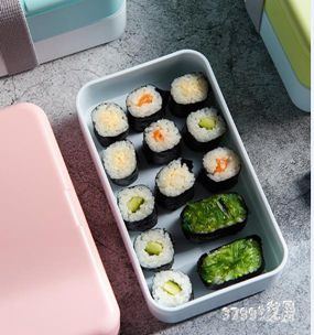 便當盒   日式雙層便當盒帶蓋保溫學生帶飯盒女可愛可微波爐雙層分格壽司盒 LN2206  聖誕節禮物