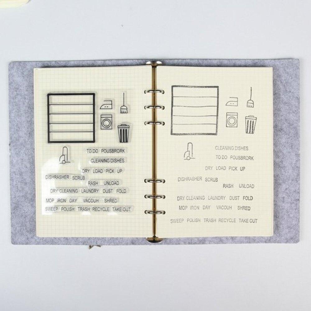居家生活英文字母透明矽膠印章【BlueCat】【JC2767】