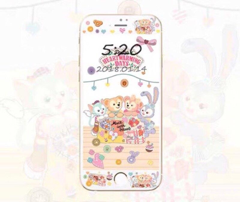 預購‼️ iPhone6/6s/6p/6ps/7/7p/8/8p 達菲熊雪莉玫史黛拉 ❶滿版碳纖維 ❷不滿版透明玻璃