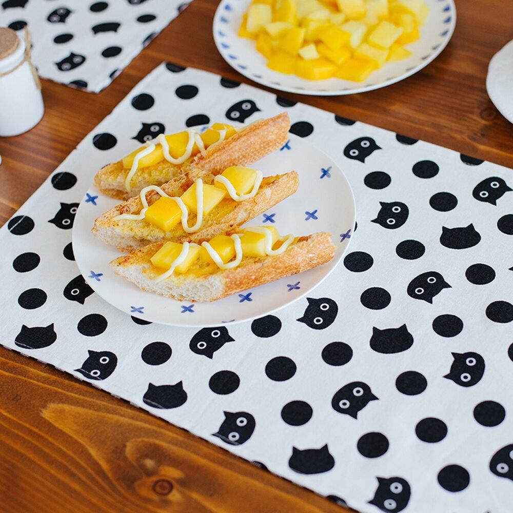 ✤宜家✤時尚可愛空間餐桌布 茶几布 隔熱墊 鍋墊 杯墊 餐墊283 (30*45cm)  雙面使用
