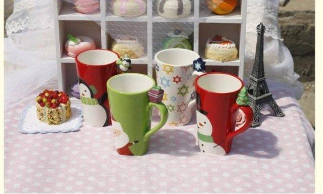 聖誕系列陶瓷口杯 茶杯 馬克杯 喝水杯 咖啡杯 奶杯 杯子 辦公室(一個價)(圖一)