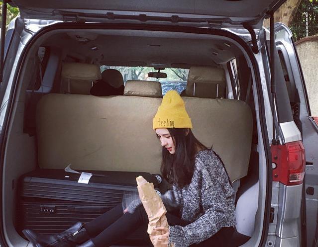明星同款字母針織毛線帽子潮男女冷帽韓版姜黃色秋冬天保暖帽潮1入