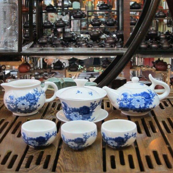 骨瓷茶具套裝特價 青花瓷月亮鳥