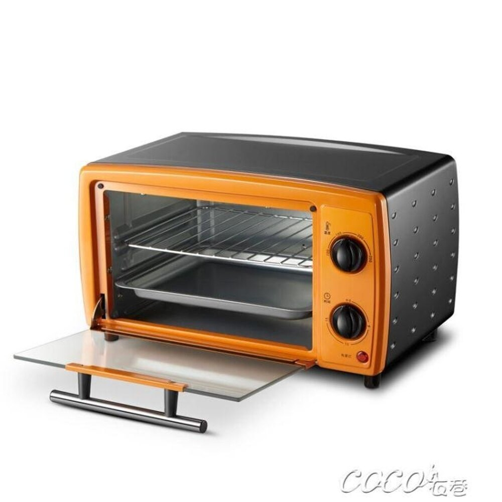 電烤箱  家用電烤箱烘焙多功能迷你小烤箱12L蛋撻蛋糕烤箱220 JD    coco衣巷 聖誕節禮物
