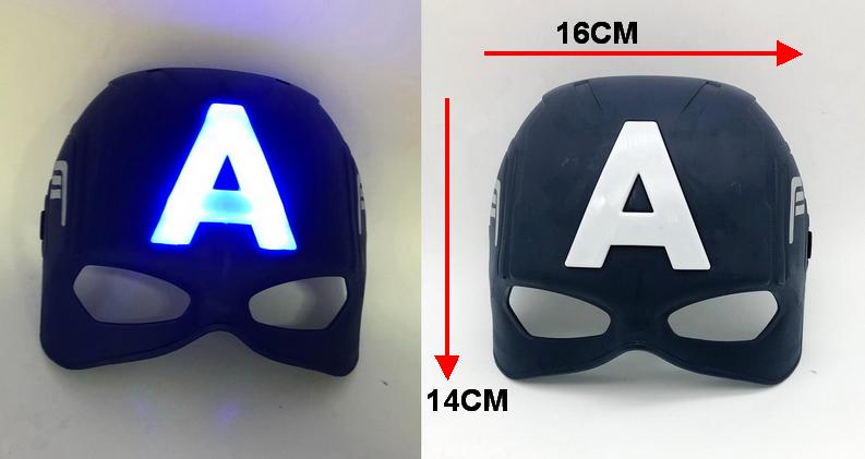 東區派對-復仇者聯盟面具/萬聖節面具/美國隊長面具-發光美國隊長面具(深藍款)