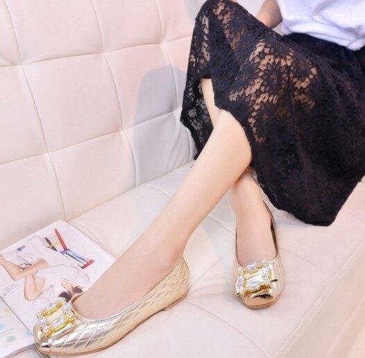 水鑽平底鞋