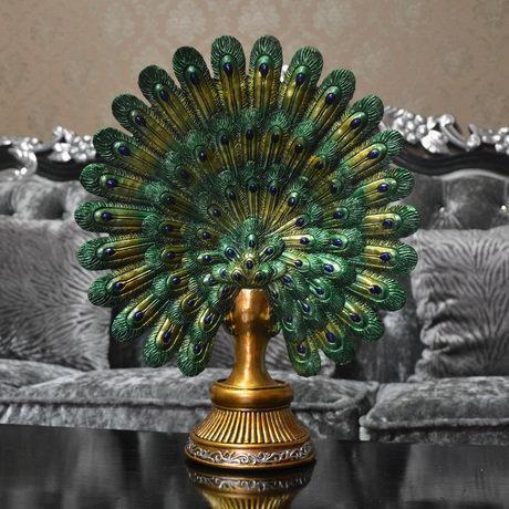 孔雀擺件工藝品家居家客廳玄關電視櫃室內家具裝飾品擺設奢華
