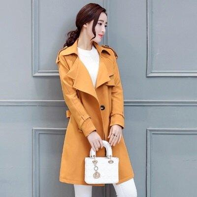風衣外套翻領大衣-時尚韓版英倫顯瘦女外套2色73iz3【獨家進口】【米蘭精品】