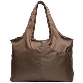 母親親子かばん多機能ショッピング袋複数の袋大容量軽量化便利ファッション女性防水ショルダーバッグ (コーヒー)