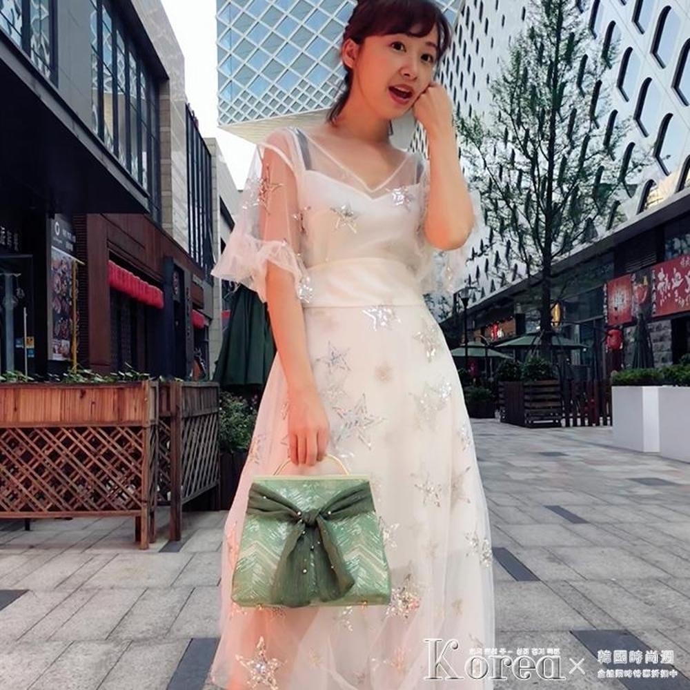 口金包 1078綠色愛情海絲帶口金包女時尚單肩手提拎包手工佈藝diy材料包 領券下定更優惠