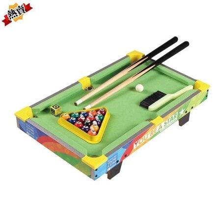 臺球桌 桌球兒童小臺球玩具益智大號家用臺球桌迷你桌面8男孩小孩3-6歲10XW 母親節禮物