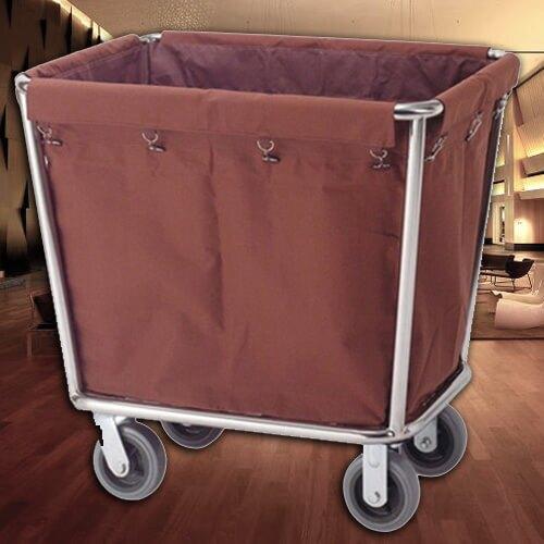 【企隆 圍欄 飯店用品】 飯店 旅館 民宿 清掃 清潔人員 D40 不銹鋼錐形布巾車