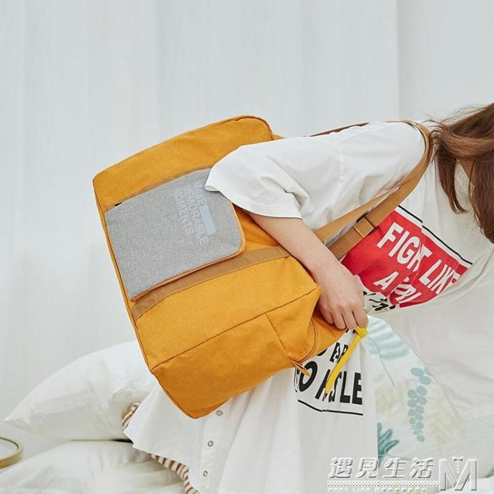 摺疊旅行袋可套拉桿箱旅行包旅游包女輕便大容量手提行李包行李袋  遇見生活 聖誕節禮物