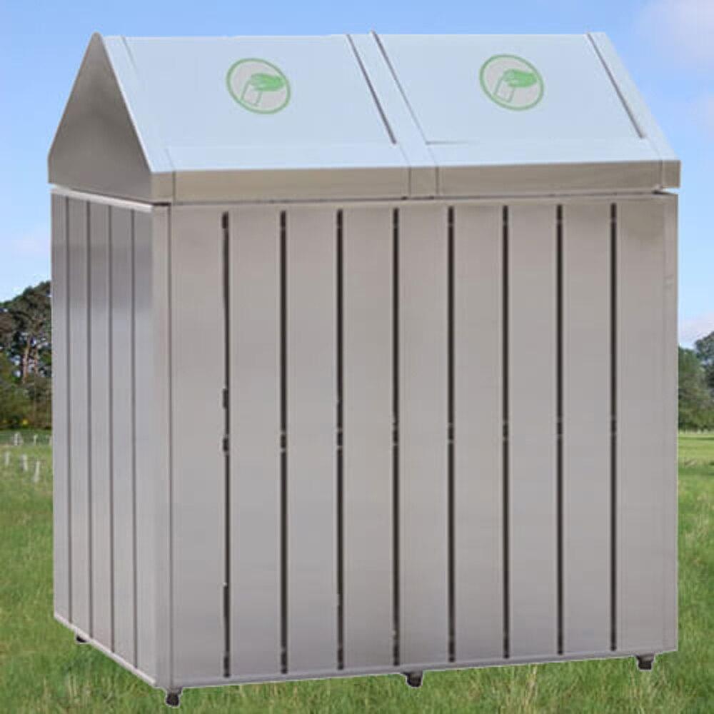 【企隆 圍欄 飯店用品】不銹鋼二分類清潔箱/G210 資源回收/清潔/整理/垃圾桶/清潔箱(1500運費)