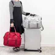 手提旅行包摺疊旅行袋女大容量登機防水行李袋可套拉桿包旅游包男  卡布奇諾SUPER 全館特惠9折