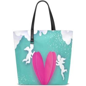 CW-Story 天使の翼 ズックバッグ かわいい バッグ シンプル 内ポケット付き 小物収納便利 小容量 通勤通学 入学就活祝い 母の日ギフト