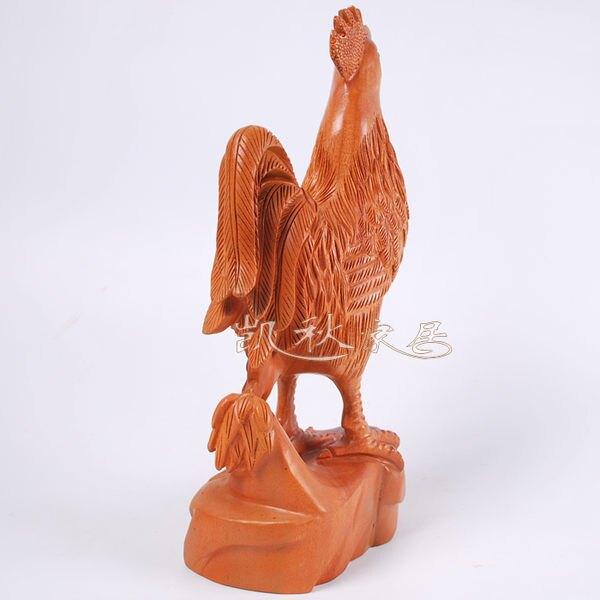 紅木*動物擺件*精雕生肖雞
