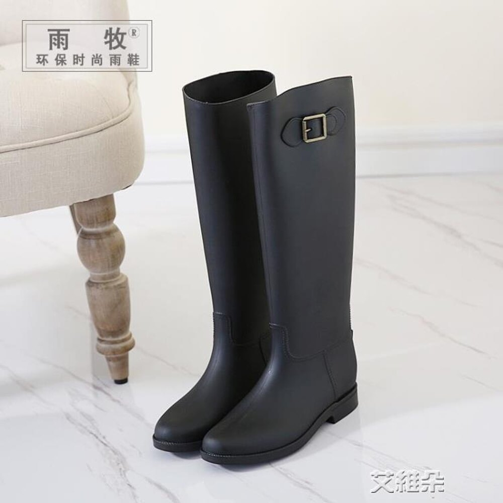 長筒雨靴 顯瘦韓國高筒雨鞋女成人時尚水鞋長筒雨靴防滑膠鞋套鞋馬靴水靴 清涼一夏钜惠