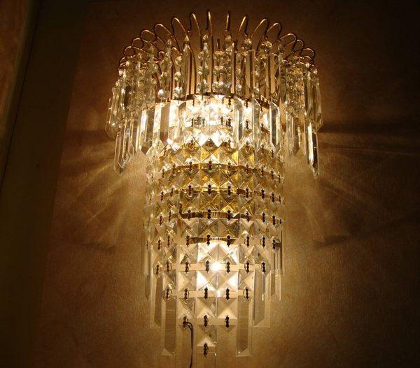 現代簡約時尚水晶壁燈