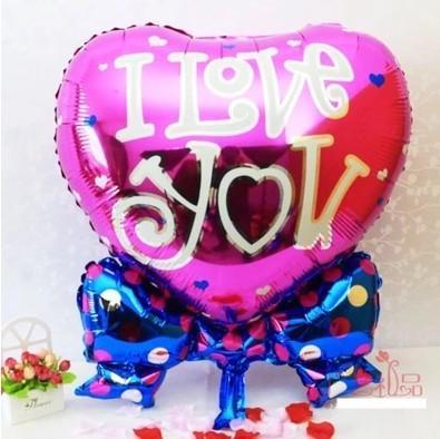 蝴蝶結心形氣球