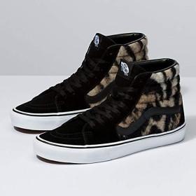 [VANS(バンズ)] ユニセックス靴・スケートシューズ Leopard & Tiger Sk8-Hi レオパード&タイガー スケートハイ Black/True White ブラック/ホワイト US Men's 4.0 Women's 5.5 (メンズ 22.0㎝ レディース 22.5cm) [並行輸入品]