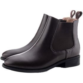 [AJGLJIYER LTD] ベルト デザイン ファッション ブーティ 歩きやすい 太ヒール 大きいサイズ 黒 アンクルブーツ 23.5cm ヒール ブラック ブーツ ショート 冬 ブラウン 靴 ブーティー おしゃれ レディースブーツ ショートブーツ