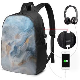 ファッションミニUSB充電ラップトップバックパック、女性/女の子/ビジネス向け軽量旅行防水学校バックパック(海賊船のシーン)