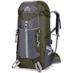 JUNNA ハイキングバックパック メンズ・レディース 超軽量USB充電屋外バックパック登山バッグスポーツバックパック防水 旅行 大容量 軽量防水 キャンプ アウトドアバッグ (Color : Army Green)