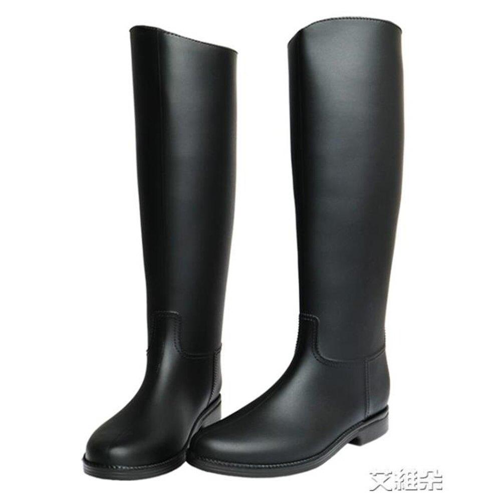 長筒雨靴 英倫雨鞋 女高筒時尚雨靴女 成人長筒水鞋女士防滑膠鞋馬丁水靴 年貨節預購