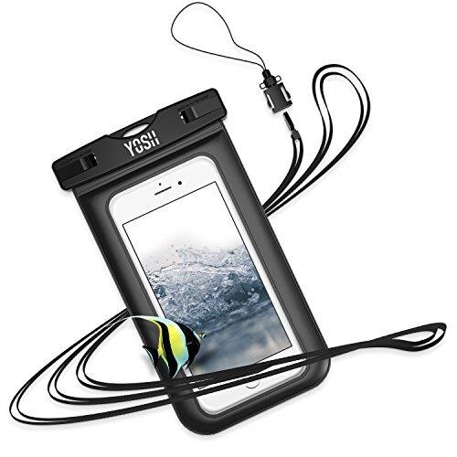 【日本代購】Yosh 防水手機套適用於iPhone和Android-附帶頸帶IPX8 認證