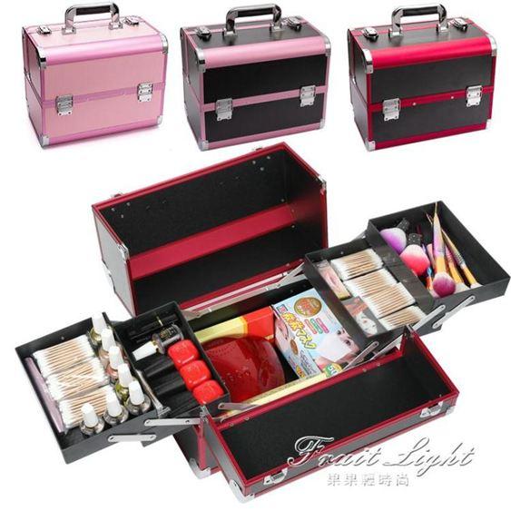 工具箱手提專業美容美甲箱子紋眉師專用高檔多層大容量化妝箱