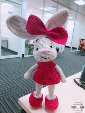 免運 大耳朵兔子玩偶 手工diy鉤針編織毛線材料包