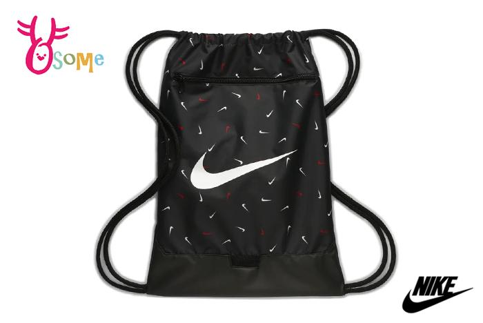 NIKE BRASILIA 訓練印花健身袋 素口輕便袋 A0514#黑色 奧森