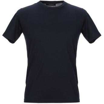 《セール開催中》GAZZARRINI メンズ T シャツ ダークブルー S コットン 100%