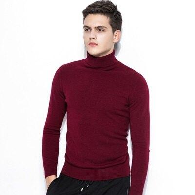 針織衫高領毛衣-歐美休閒純色羊絨男上衣4色73qf29【獨家進口】【米蘭精品】