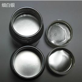 銀箔漆100克0-1L耐曬銀箔漆閃光銀粉漆超亮水晶銀金屬銀漆家具描邊油性漆水性漆