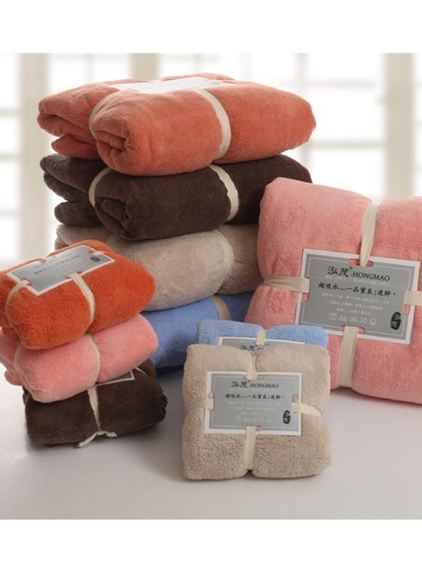 毛巾浴巾柔軟吸水比純棉全棉成人大男女網紅家用速幹三件套不掉毛